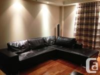 L Shape leather living room couch - Meuble de salon