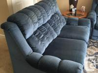 LA-Z-BOY SOFA HIDE-A-BED & DOUBLE RECLINER LOVE SEAT