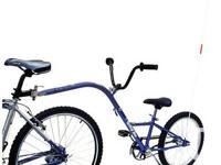 Lightweight AllyCat Shadow II 'Tag-a-Long' trailer bike