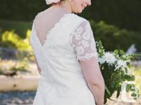 REDUCED - All lace wedding dress - Lace sheath w/, used for sale  British Columbia