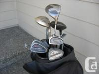 Set of clubs suitable for shorter female or adolescent