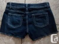 Ladies Blue Crush Jean Shorts in excellent condition.