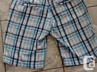 Ladies Blue Plaid Shorts in great condition. Brand is