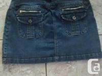 Ladies BONGO Jean Skirt in excellent condition. Size 7.