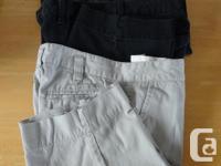 LADIES CLOTHES-shorts, tops, pants, medium sizes, 6-10,
