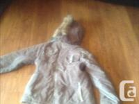 Beautiful corduroy winter jacket fits size small. It is