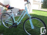 Ladies Giant Cypress Hybrid Bike aluminum frame size