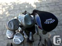 Complete set of ladies right handed graphite shaft