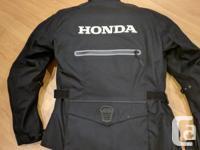 Honda Touring Motorcycle armoured jacket size Medium in