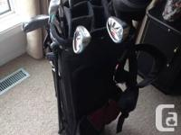 Ladies Wilson golf clubs with bag. They are left handed