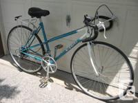 I'm offering my Nishiki road bike. It's a 12 speed,