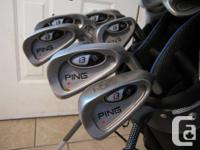 Full set of Ping I3 (4-PW), Cleveland Sand wedge, Ping
