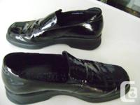 1.  Ladies Mephisto Black Patent Leather Loafers - Size
