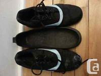 Lightly used. Slider on left shoe (with removable