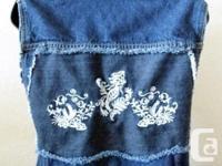 Shank Denim Ladies Jean Vest....with two reverse