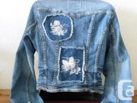 Angel Jeans Denim Ladies Jean Jacket....with three