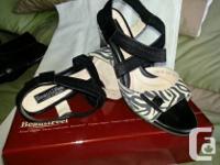 As new, Ladies Beautifeel summer sandals in Zebra print