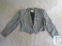 Black waiter style jacket (medium, 18 inches across