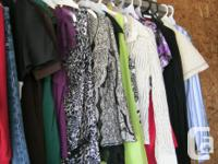 ladies tops, dresses and pants. excellent shape. all