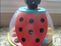 In mint condition Press the lady bug's head and the