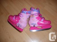 Girls Disney Princess. Pink Skates. You can change the