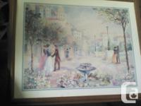 LaForet print painting with frame, 31 x24, in beautiful