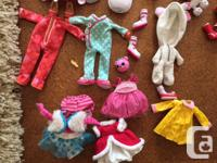 2 large Lalaloopsy dolls, 1 small, 6 pets, extra