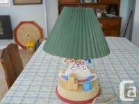 Table Lamp for kids - Rocking horse figure - Green