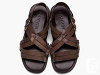 LANVIN Ribbon Cross Strap Sandals  For better images