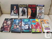 Great deal of 9 VHS Tapes - Don Cherry x3, Tie Domi,