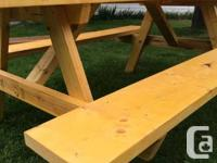 I have a lot of picnic tables offer for sale that were