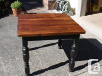 "Antique Table with 1-1/2"" thick restored Pine Butcher"