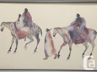 Carol Gibbs Signed Watercolor Print 'Woman of