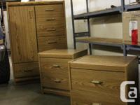 Selling a large dresser with two night tables that are