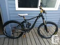 Available for sale is a hardly ridden Giant Belief. I