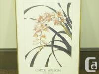 "LARGE FRAMED POSTER OF CAROL WATSON'S ""WORKS ON PAPER"""