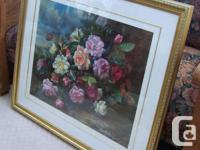 Large framed print by Albert Williams (1922-2010) who