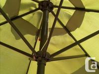 Large green umbrella in excellent condition. Fully