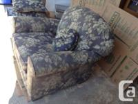 This is a very comfortable living room chair. Cotton