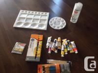 Large lot of art supplies for beginner artist All brand