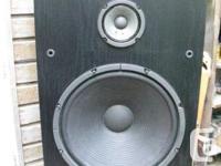 KENWOOD Home Stereo 3 Way Speakers. Model JL-878 (I