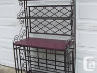 Large metal bakers rack black and silver with 3 metal