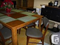 Large Oak, Solid Wood Dining Table Solid Top Measures