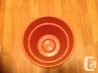 Large pot for plant(s). Plastic, no cracks, no warps.