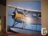 Print of Seaplane on light weight foam board size - 2