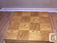 LARGE Oak side table. It's veneer, but thick veneer. for sale  British Columbia