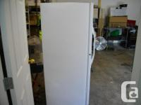 White Kenmore Commercial quality upright freezer, works for sale  British Columbia