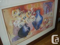Beautiful artwork with thick wood frame with triple