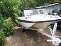 larson bowrider 16', 40hp johnson outboard w/forward