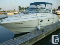 1994 Larson Cabrio; 28 ft. with 10 ft. beam.� Twin